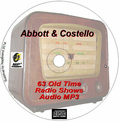 Abbott & Costello 104 Comedy Old Time Radio Shows on CD MP3 OTR