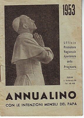 v172   CALENDARIETTO ANNUALINO 1953 PAPA PIO XII