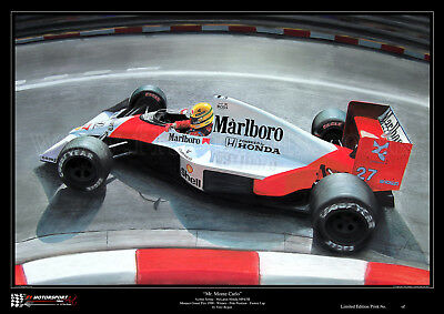 Ayrton Senna McLaren Monaco 1990 Ltd. Ed. Art Print from an original painting