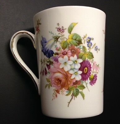 HAMMERSLEY SPODE Floral Bouquet Tall Coffee MUG CUP FINE BONE CHINA ENGLAND
