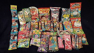 1 set of 35 different Japanese candies/chocolate ALL IN ONE popular with kids