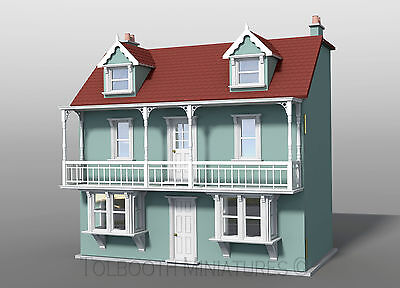 Sea View Dolls House 1:12 Scale  - Unpainted Dolls House Kit