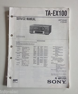 Schema SONY - Service Manual Av Amplifier TA-EX100 TAEX100