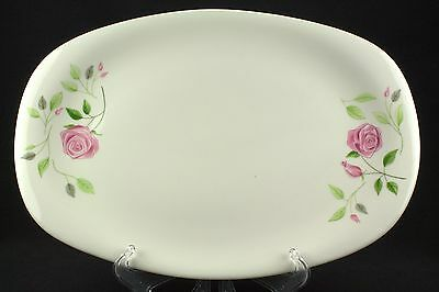 """Iroquois Wild Rose Large Oval Serving Platter 15"""" Flowers EUC"""