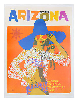 237 Vintage Travel Poster Art Arizona
