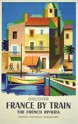 0239 Vintage Travel Poster Art France By Train