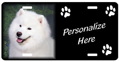 Samoyed Personalized License Plate