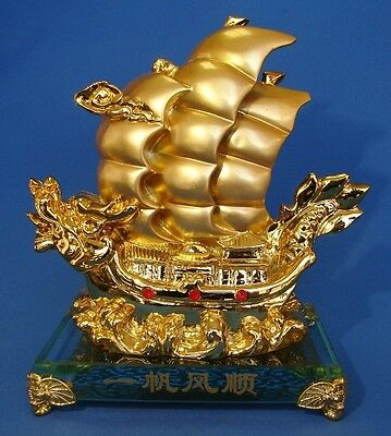 Feng Shui Dragon Boat Carrying Wealth