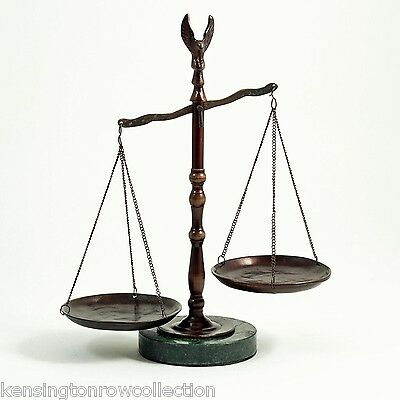 Lawyers & Legal - Scales Of Justice Sculpture With Eagle Finial