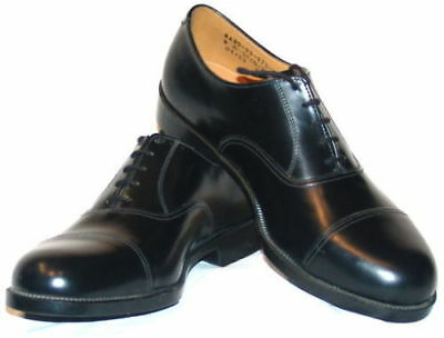 Mens Black Leather Parade Shoes British Army / RAF / Cadet With Toe Cap All Size
