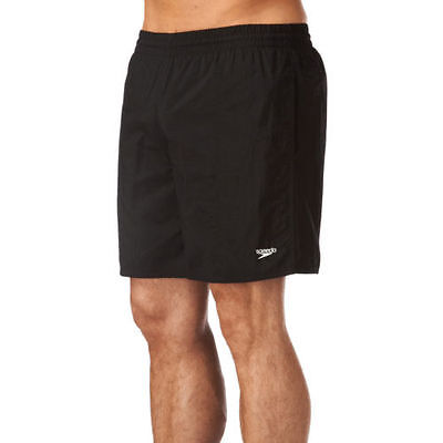 Mens Speedo Solid Leisure Swimming Shorts  Black  Brand New As From Speedo.