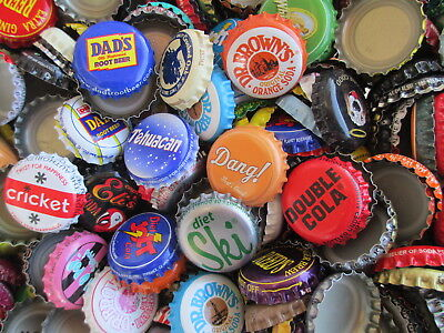 300 American Soda and Root Beer Bottle Caps ( No Dents )