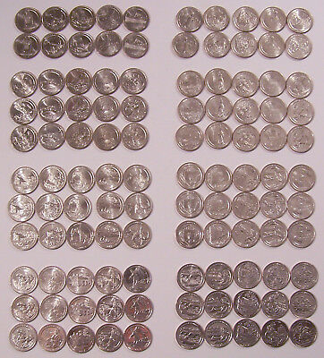 America the Beautiful $.25 - 110 COINS  2010-2017 P-D / 80 - 2012-2017 S / 30 FD
