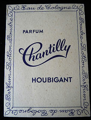 "Ancienne Carte Parfumee ""Chantilly"" De La Parfumerie Houbigant"