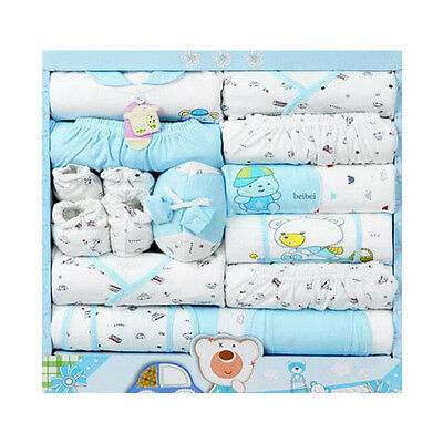 15pcs Newborn Gift set Infants Clothing Baby Boys Girls Suits Toddlers Clothes