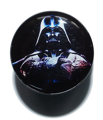 Darth Vader Star Wars Plug Acrylic Screw Fit Logo Flesh Tunnel Ear Stretcher