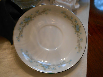 """1 Royal Court Fine China of Japan Blue Fantasy Saucer For Coffee Cup 5 3/4"""""""