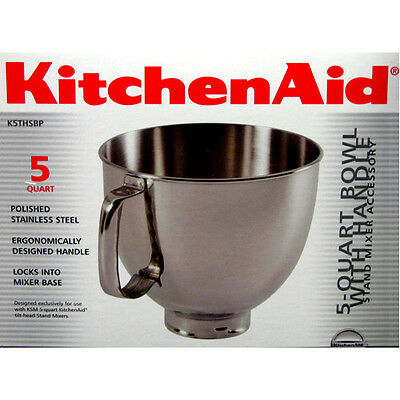 Brand New KitchenAid K5THSBP 5 Quart Bowl With Handle For Artisan Stand Mixers
