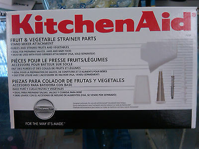 Brand New KitchenAid FVSP Fruit And Vegetable Strainer For All KitchenAid Mixers
