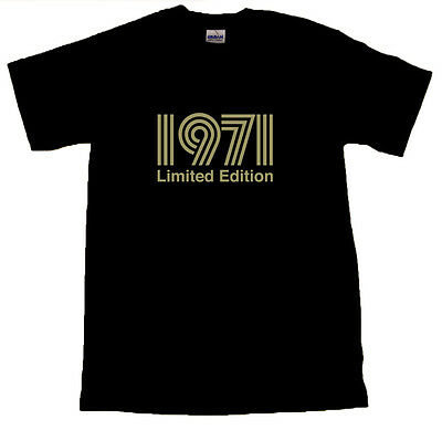 1971 Limited Edition Gold Text T-SHIRT ALL SIZES # Black