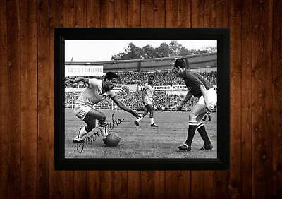 Garrincha Signed Framed Pp A4 Print Football Soccer Gift Ideas Vintage