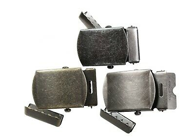 4301 Rothco Vintage Military Canvas Web Belt Buckle And Tip Kit