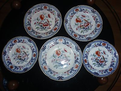 Collection of Ellesmere, 2 ten inch plates, 2 nine inch plates, 1 ten inch soup
