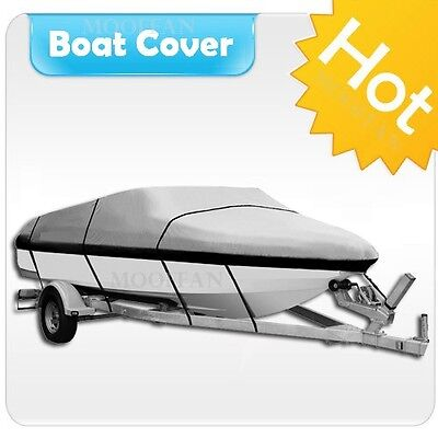 20' 21' 22' Heavy Duty Marine Blue Boat Cover Fishing Ski Bass Motorboat MBT3N