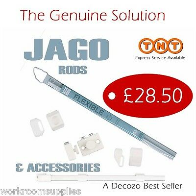 NET/VOIL 5m FLEXIBLE CURTAIN ROD/TRACK - JAGO system for Straight or Bay Window