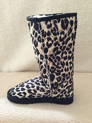 UGG Boots Classic Tall Synthetic Wool  colour Black Leopard For Junior Girl