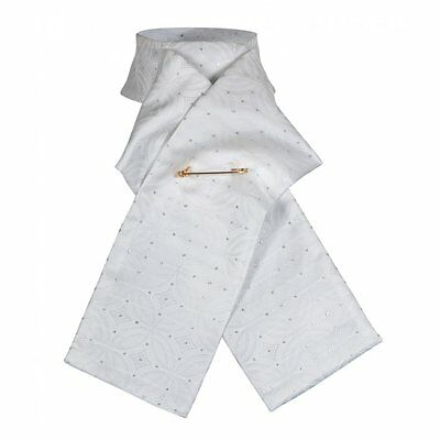 Shires Brocade Ready Tied Stock Dressage Showing White Or Gold * S, M or L *