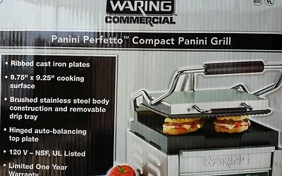 Waring Commercial Panini Perfetto(tm) Compact Panini Grill