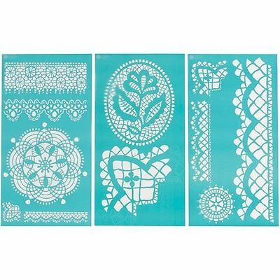 Martha Stewart 32265 Large Stencil  Cathedral Lace