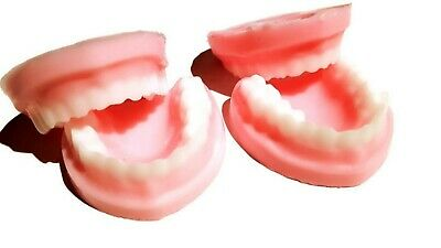DENTURES FALSE TEETH Soap/Chocolate /Ice Mould tray, Silicone, High Quality mold