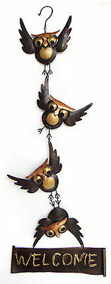 Garden Decor - Woodland Owl Welcome Sign - Metal Welcome Sign