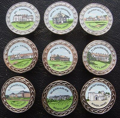 Set of 10 x Club House Rare Collectable Metal Golf Ball Markers - from 1991
