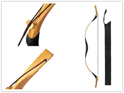 Chinese Pigskin Mongolian Bow Style Hunting Longbow Archery Recurve Bow 20-110#