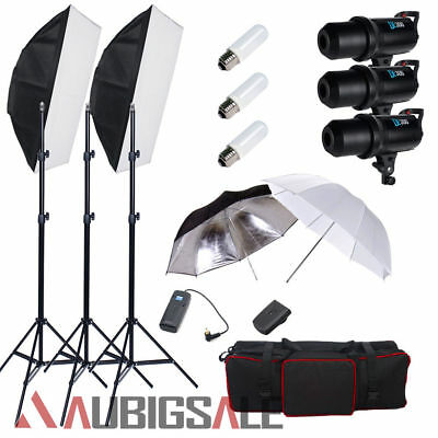 Godox 900W LED Display Studio Flash Strobe Umbella Softbox Lighting Stand Kit AU