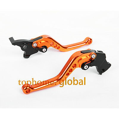 For KTM Duke 125 200 390 RC125/250/390 Short Clutch Brake Levers Orange CNC