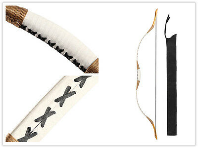 Hot New White Horsebow Yu Archery Traditional Hunting Pigskin Longbow Recurve