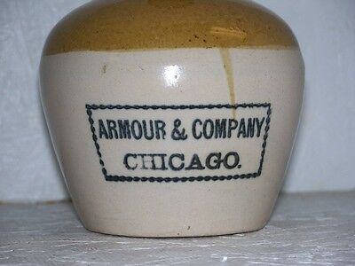 Armour Company Chicago Illinois Advertising Uhl Pottery Jug Meatpacking Company