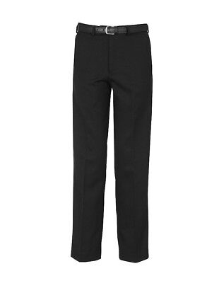 Boys classic LEG School/Formal Trouser-top QUALITY-ELASTICATED waist- BLACK!