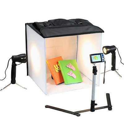 4 Colour Mini Portable Photo Studio (Cube/Tent/Lights) Lighting Kit & Bag