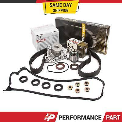 96-00 Honda Civic D16Y7 D16Y8 Timing Belt Water Pump Kit Valve Cover Gasket