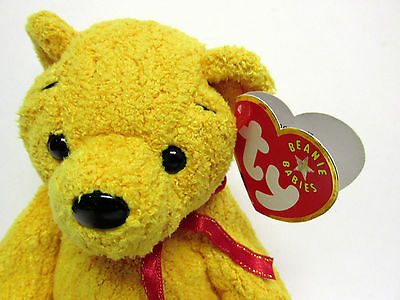 """Ty-Beanie Baby - """"Poopsie"""" Bear * New in Mint Condition w/Mint tags"""