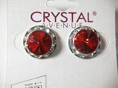 Red Crystal Earrings dance moms Ballroom competition perfomance swarovski kids