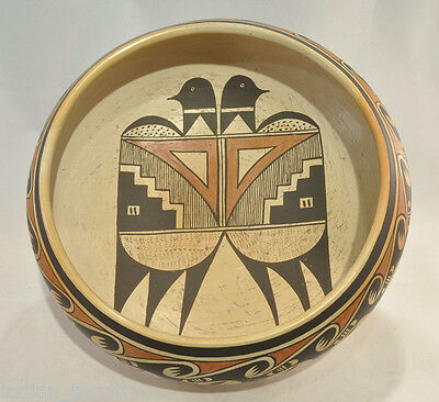 """LARGE 10.25""""dx3.75""""deep Fannie Nampeyo Hopi Indian Pottery Bowl by  c.1960"""