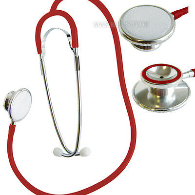 Premium Red Dual Head EMT STETHOSCOPE, Retail Boxed, Professional Quality  - CE