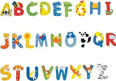 ANIMAL ALPHABET WOODEN LETTERS $1.95 ea 7cm x 6cm FREE SHIPPING!!