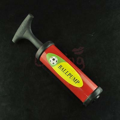 Red Inflator Hand Air Pump With Needle For Soccer Football Basketball Football